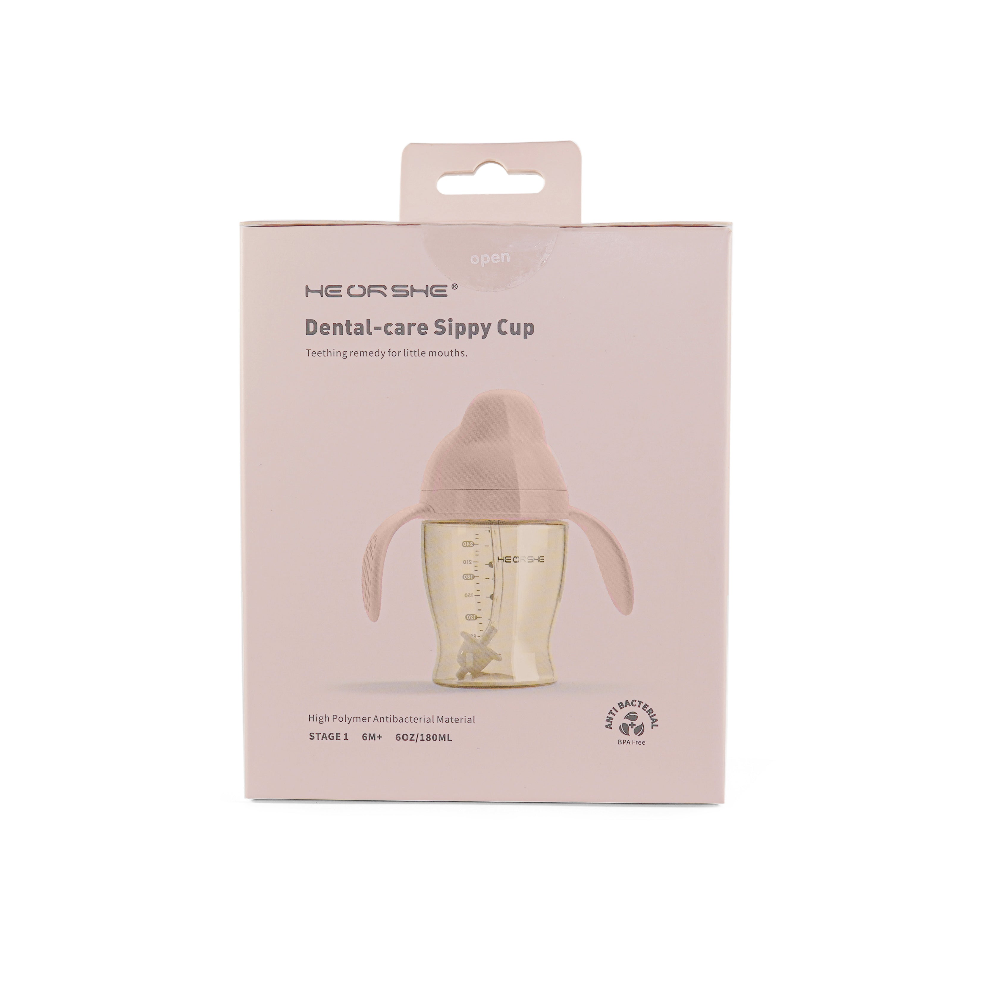 HE OR SHE Dental Care Sippy Cup Stage 1 (6m+) 6oz / 180ml