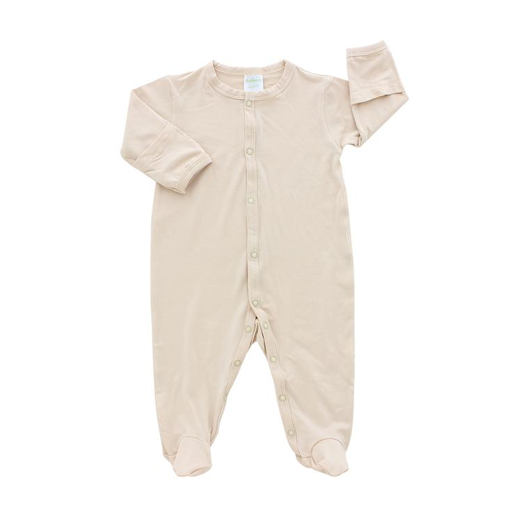 Bamberry Baby Footed Romper Sand