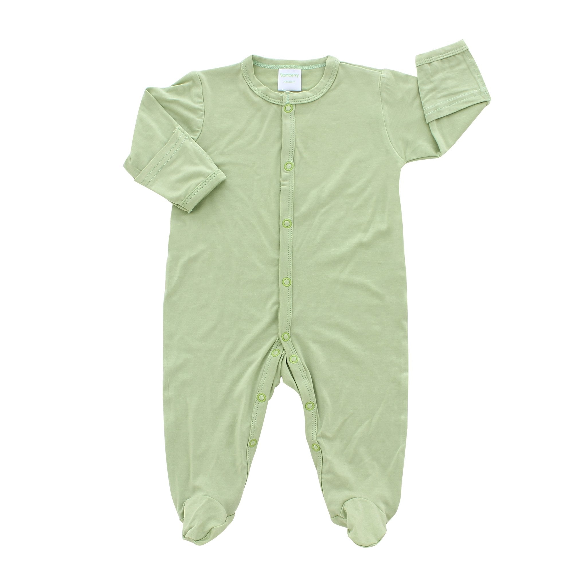Bamberry Baby Footed Romper Pastel Green