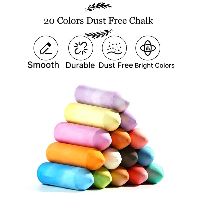 Joan Miro Washable Sidewalk Chalk - 15 colors 20 pieces set