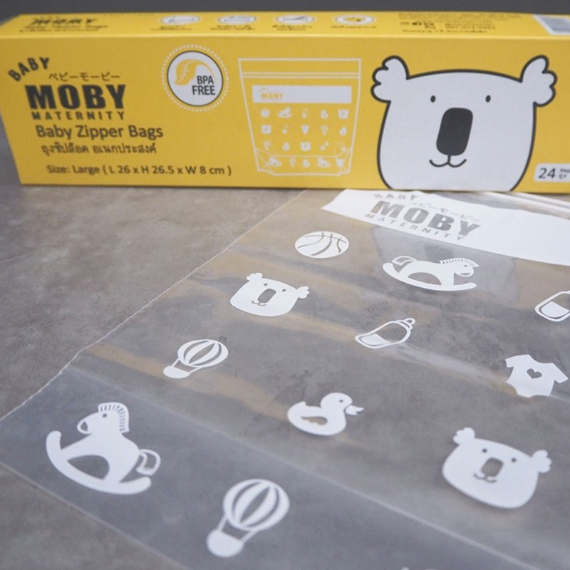Baby Moby Large Zipper Bag