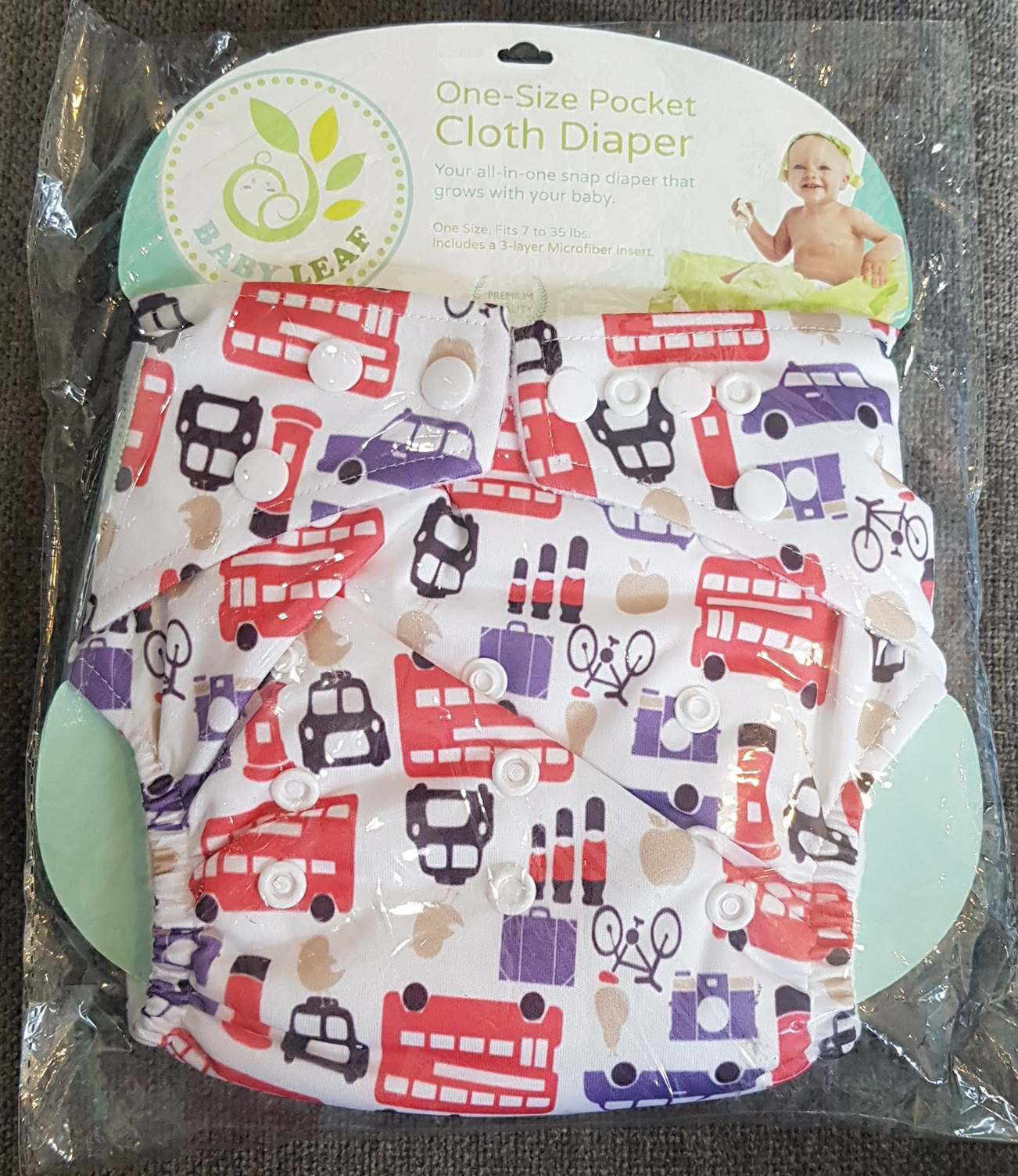 Baby Leaf London Street One-Size Cloth Diapers