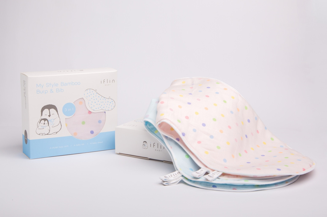 Iflin My Style Bamboo Burp & Bib (2-in1)