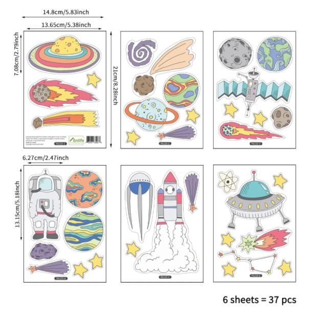 Juju Nursery Wall Decals Nursery Stickers - Outer Space