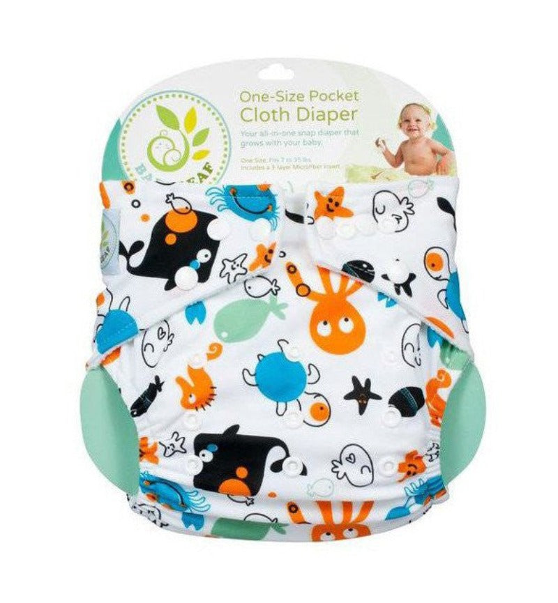 Baby Leaf Octopus One-Size Cloth Diapers