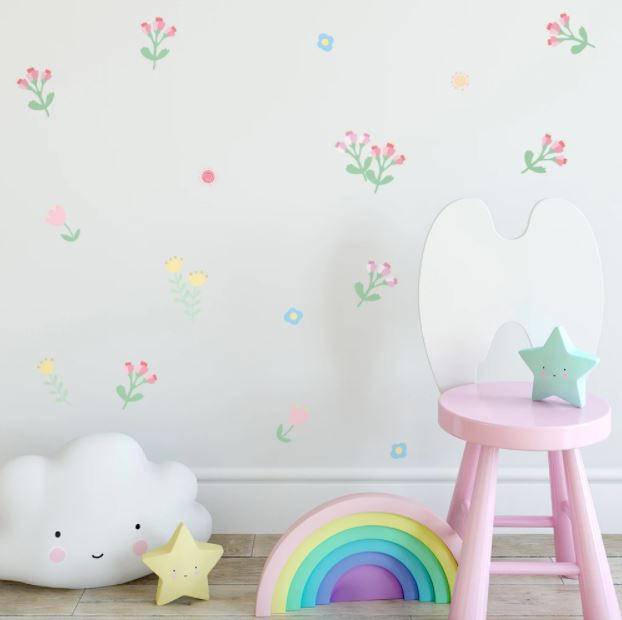 Juju Nursery Wall Decals Nursery Stickers - Pastel Flowers