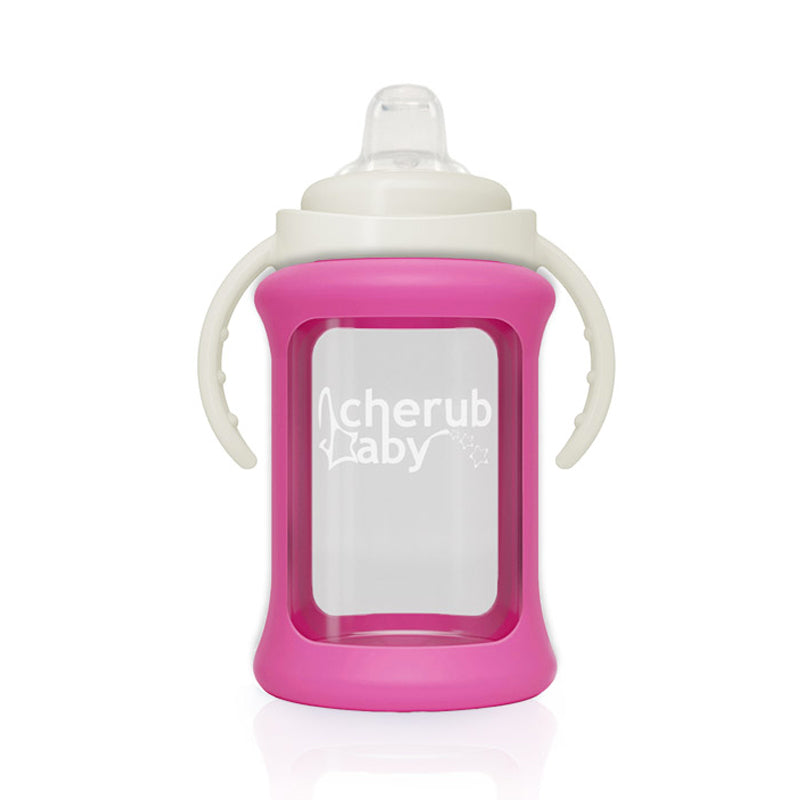 Cherub Baby Glass Sippy Cup 240ml