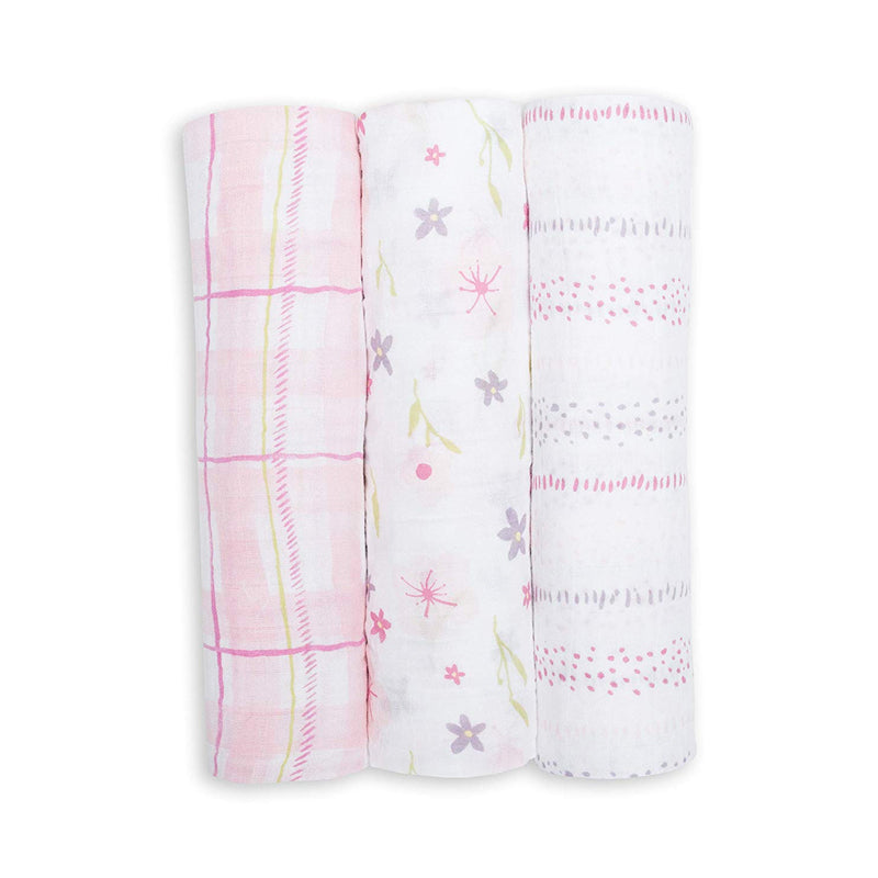 Lulujo Cotton Muslin Swaddle (Set of 3)