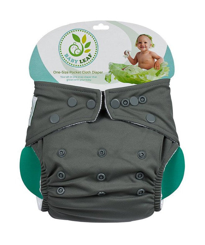 Baby Leaf Sesame Fudge One-Size Cloth Diapers