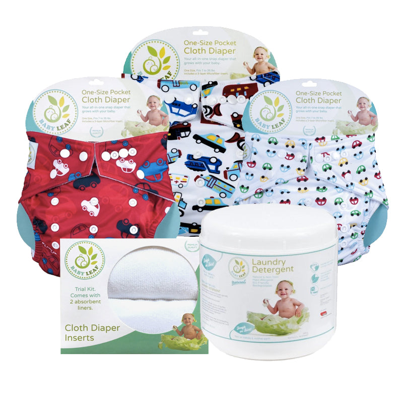 Baby Leaf Cloth Diapering Starter Kit