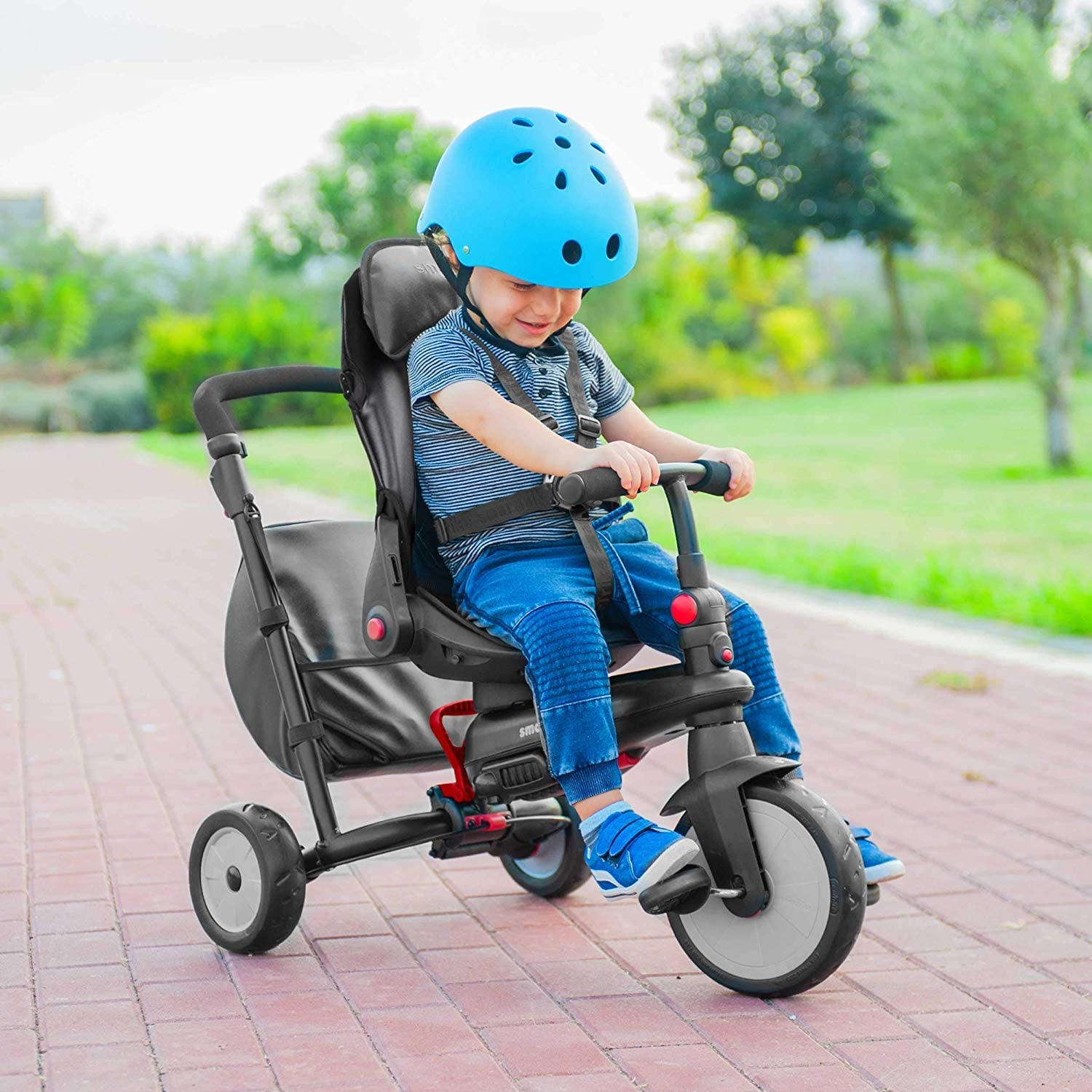 SmarTrike STR7 7 in 1 Folding Trike | Urban Black