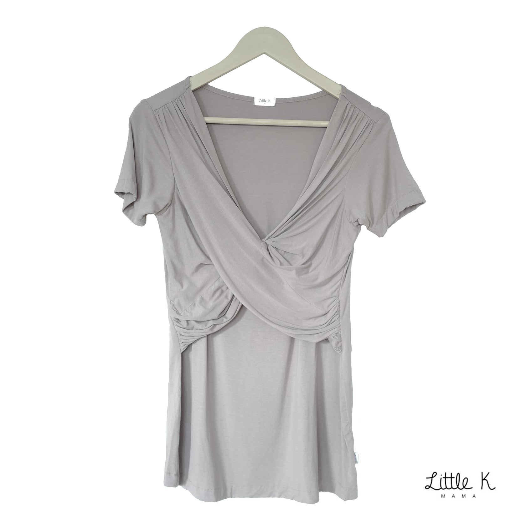 Little K Bamboo Mama PJ | Stone Grey