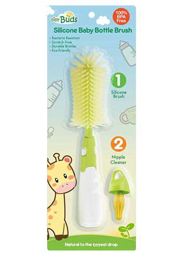 Tiny Buds Silicone Baby Bottle Brush