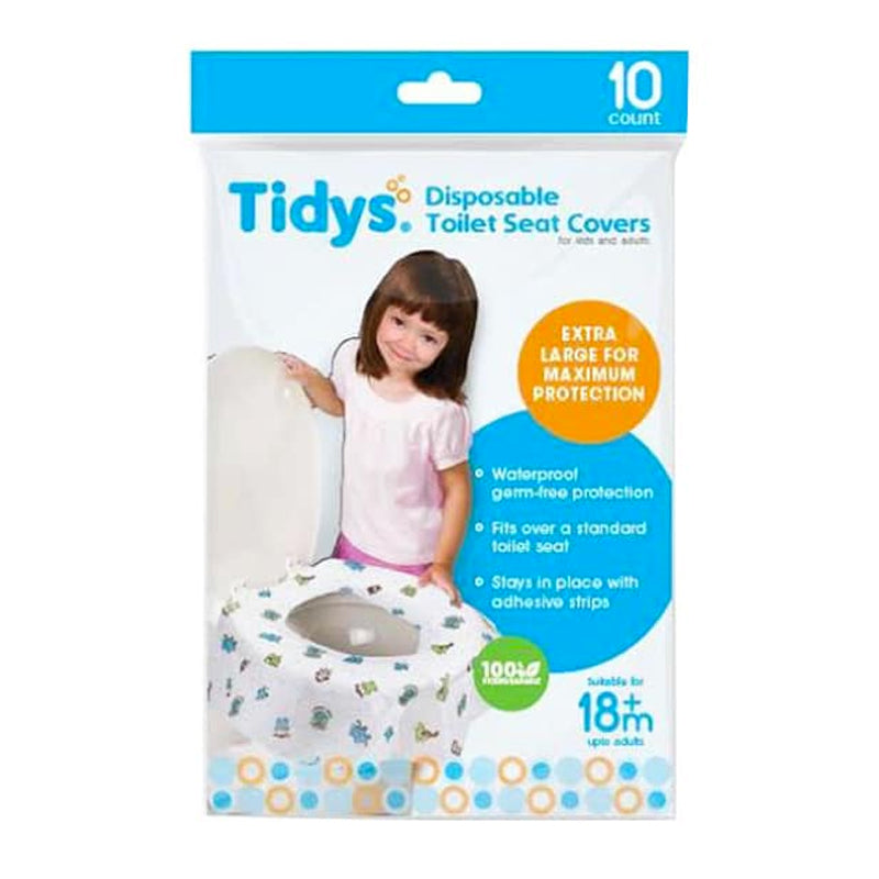 Tidys Disposable Toilet Seat Covers 10's ( for kids and adults )