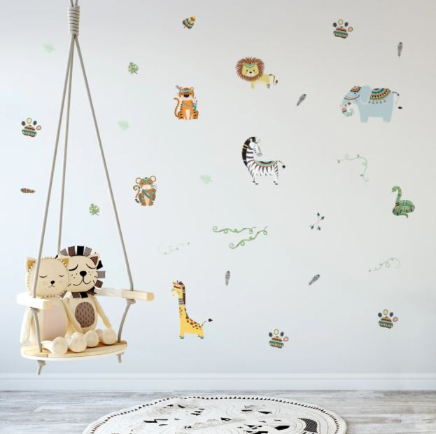 Juju Nursery Wall Decals Nursery Stickers - Tribal Animals