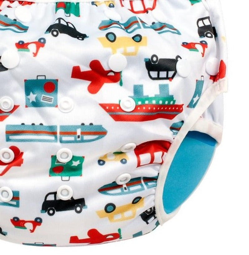 Baby Leaf Vehicles One-Sized Cloth Diapers