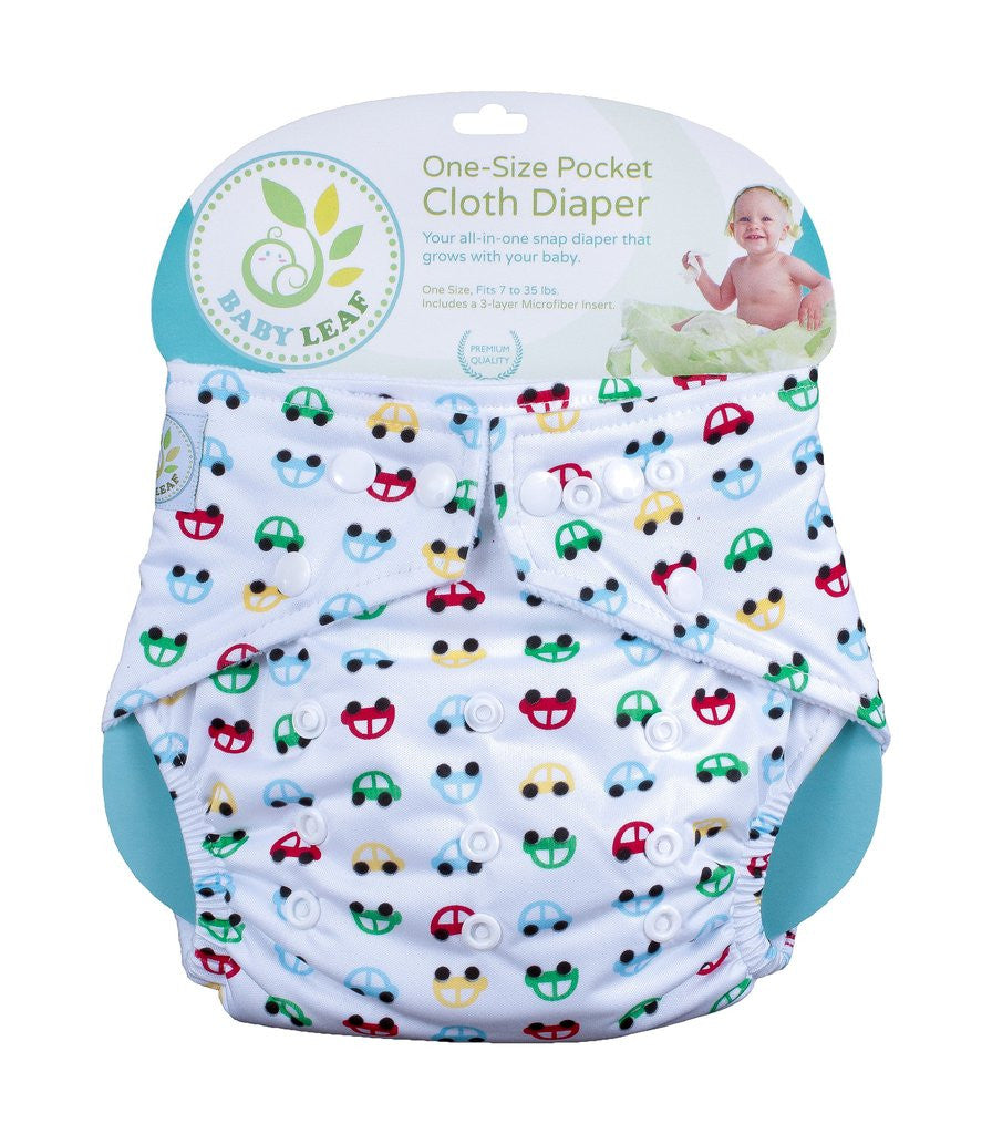 Baby Leaf VROOM VROOM One-Size Cloth Diapers