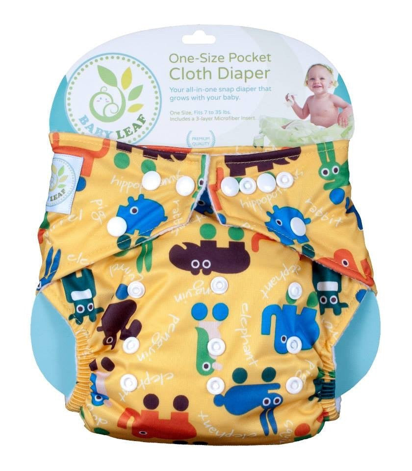 Baby Leaf Zoorific Friends One-Size Cloth Diapers