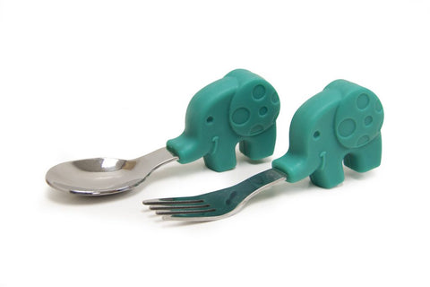 Palm Grasp Spoon and Fork Set