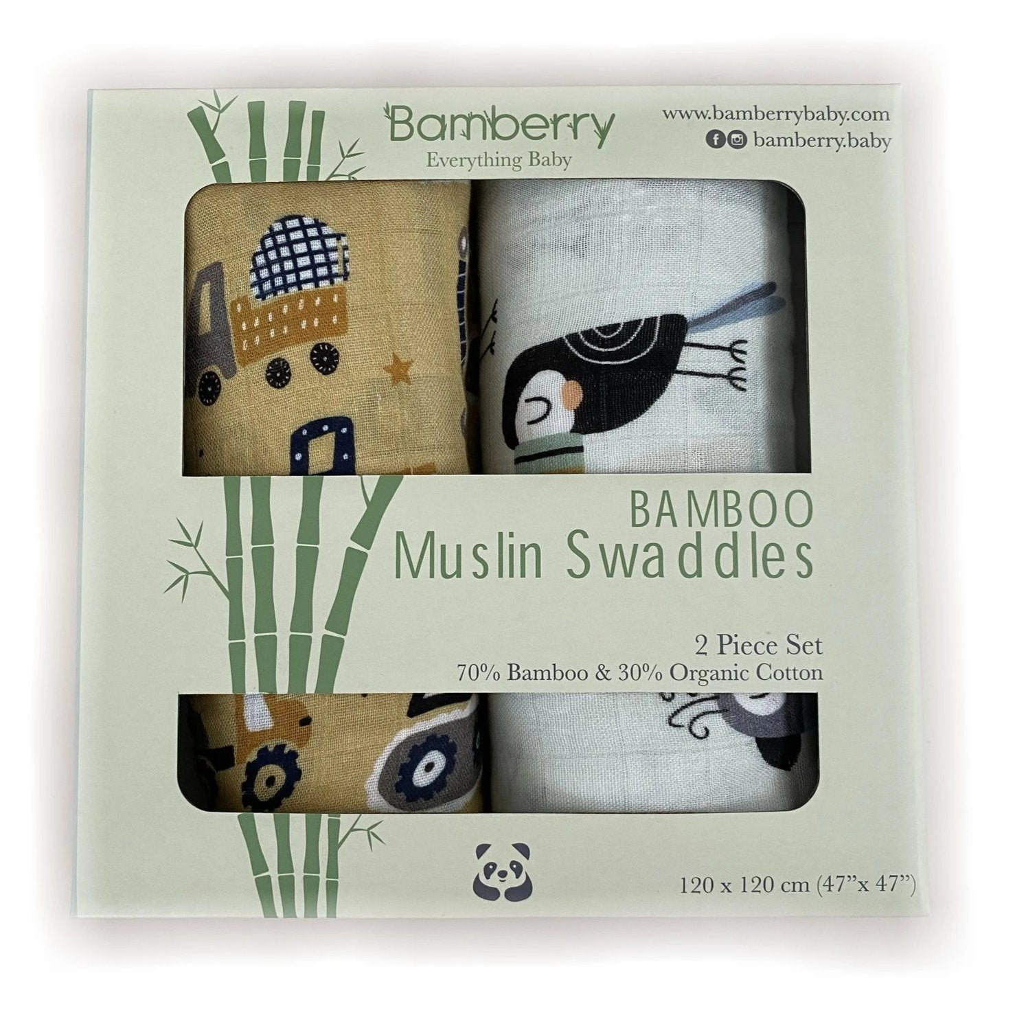 Bamberry Baby Muslin Swaddle