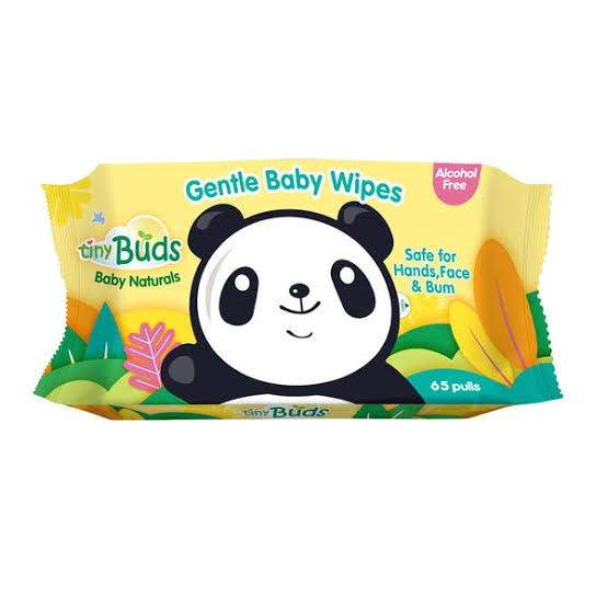 Tiny Buds Natural Baby Wipes 65 pulls