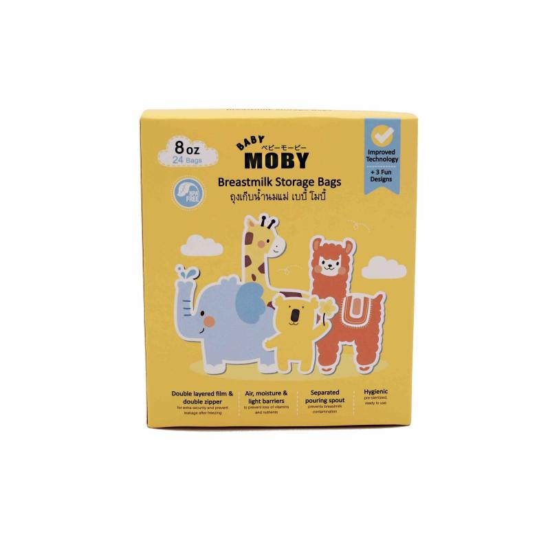 Baby Moby All New Breastmilk Storage Bags - 8oz