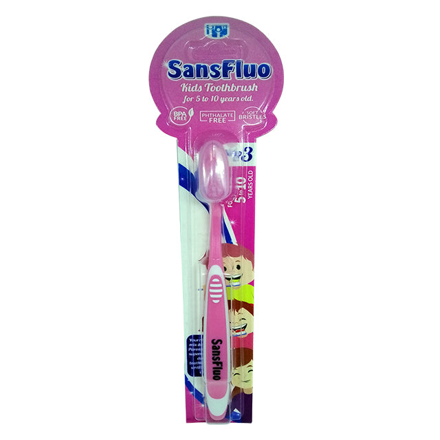 SansFluo Kids Toothbrush Step 3 (5-10 years old)