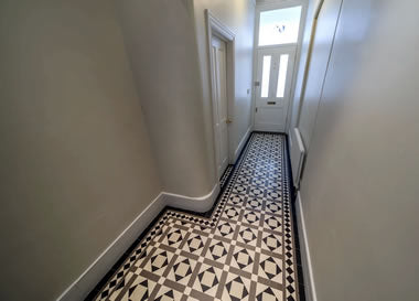 Lockwood White/Grey/Black interior hallway