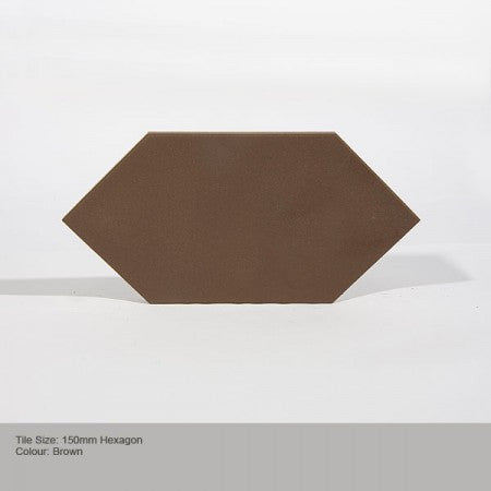 Hexagon Tile - Brown