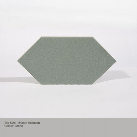 Hexagon Tile - Green