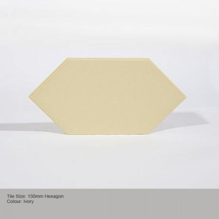 Hexagon Tile - Ivory