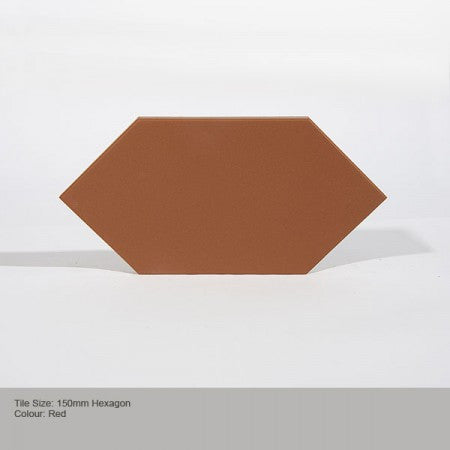Hexagon Tile - Red