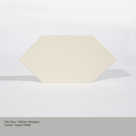 Hexagon Tile - Super White
