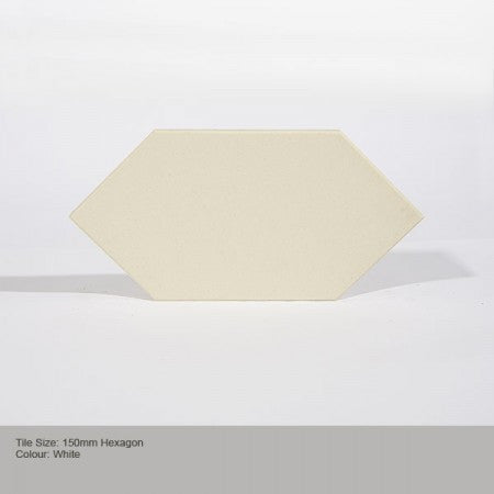 Hexagon Tile - White