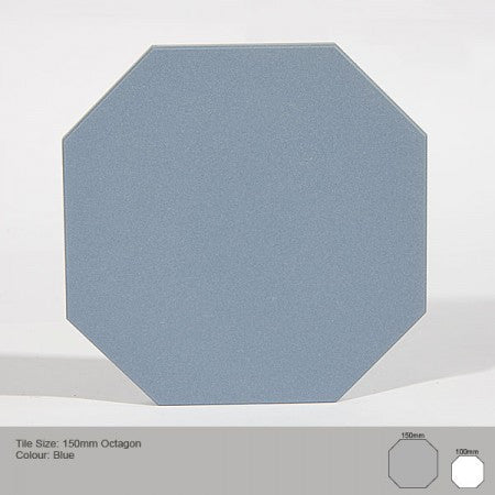 Octagon Tile - Blue