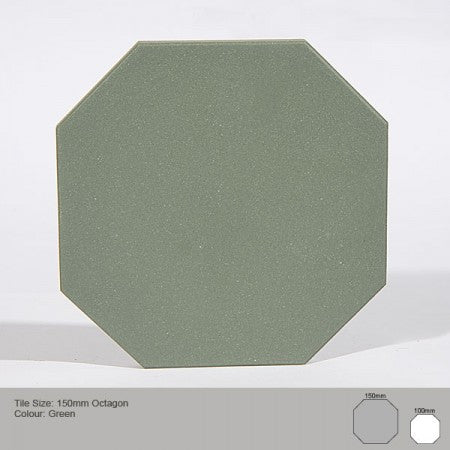 Octagon Tile - Green