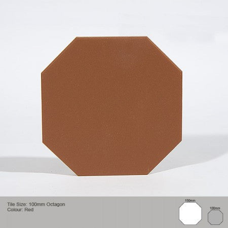 Octagon Tile - Red
