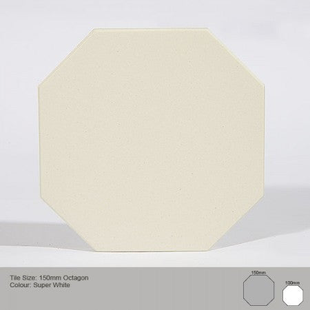 Octagon Tile - Super White