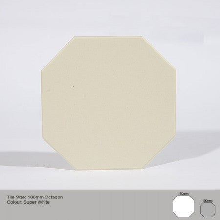 Octagon Tile - White