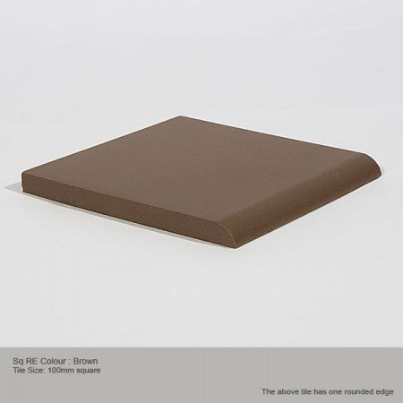 Square RE Tile - Brown