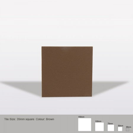 Square Tile - Brown