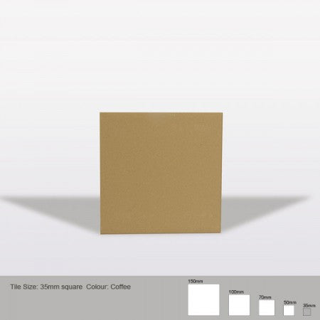 Square Tile - Coffee