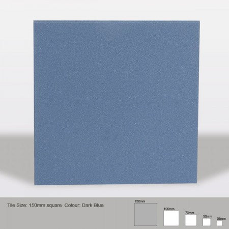 Square Tile - Dark Blue