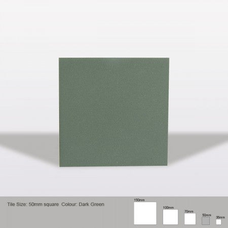 Square Tile - Dark Green