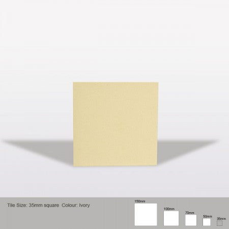 Square Tile - Ivory