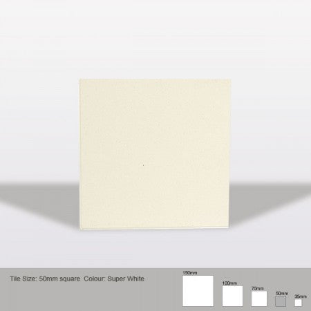 Square Tile - Super White