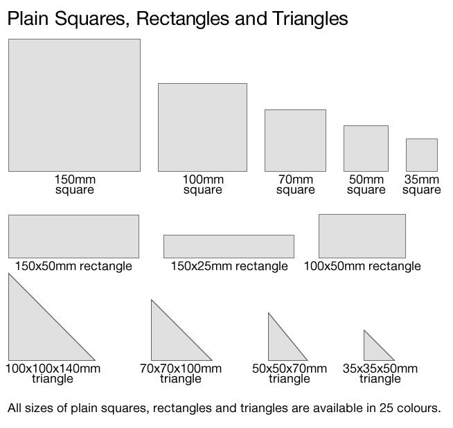 Squares, rectangles and triangles