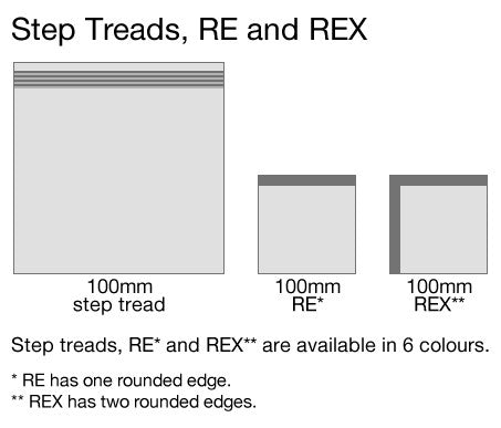 Step Treads, RE and REX Tiles