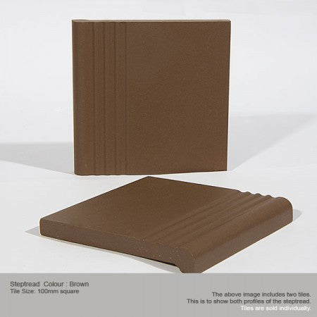 Step Tread Tile - Brown