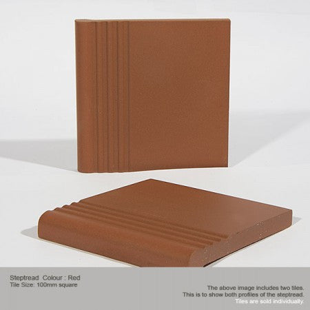 Step Tread Tile - Red
